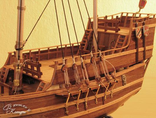 Модели парусника из дерева